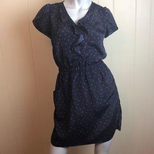 3/$27 Jessica Simpson Navy Blue V Neck Dress